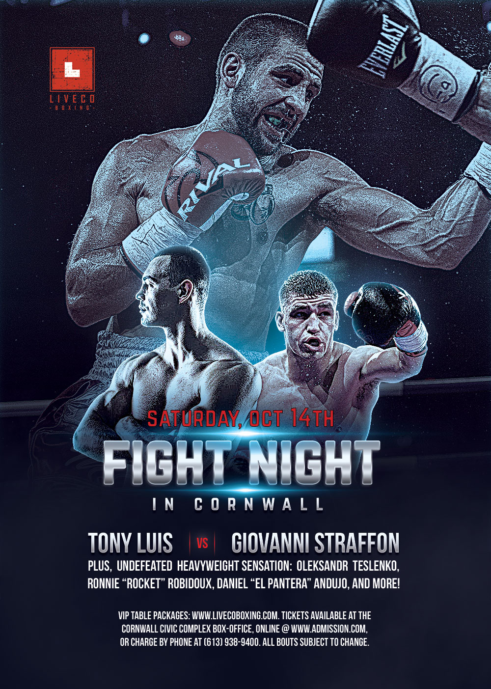 Liveco-Boxing-Tony-Luis-Giovanni-Straffon-Fight-Poster
